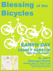 Blessing of the Bicycles, April 21 at St. John's, Aptos