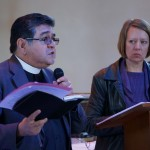 Canon Jesus Reyes reports back from his small group.