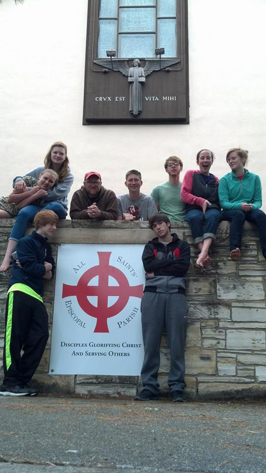 Youth at All Saints', Carmel, their home on the Peninsula.