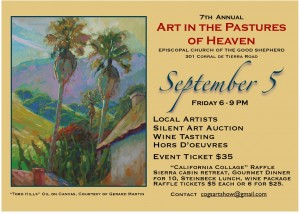 Art in the Pastures of Heaven on September 5 at Good Shepherd, Salinas